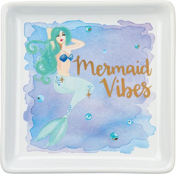 Mermaid Vibes Watercolor Trinket Tray