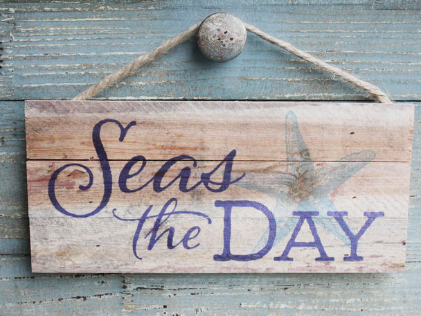 Seas the Day - Made in the USA Rope Sign