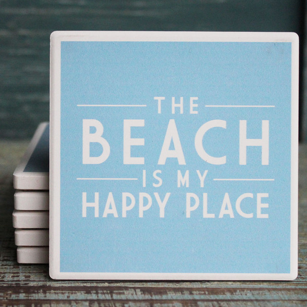 The Beach is My Happy Place Coaster