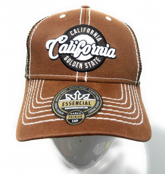 California Brown Oilskin Mesh Hat