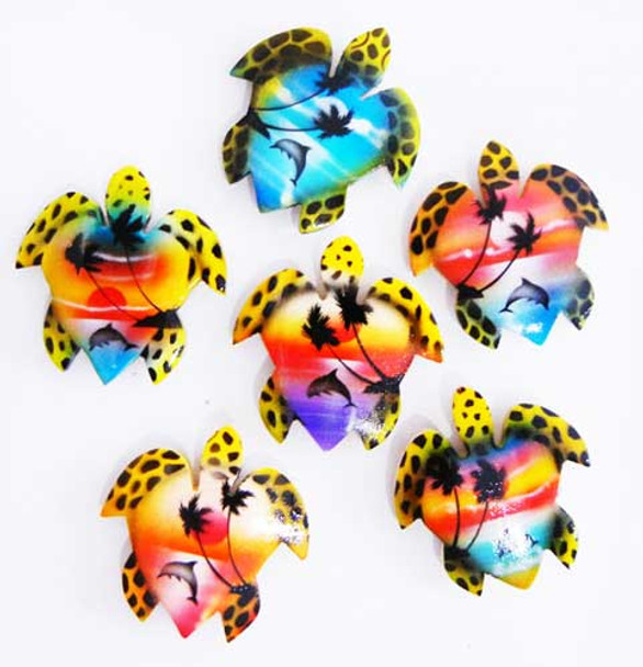 Painted Sea Turtle Magnets - Assorted Styles