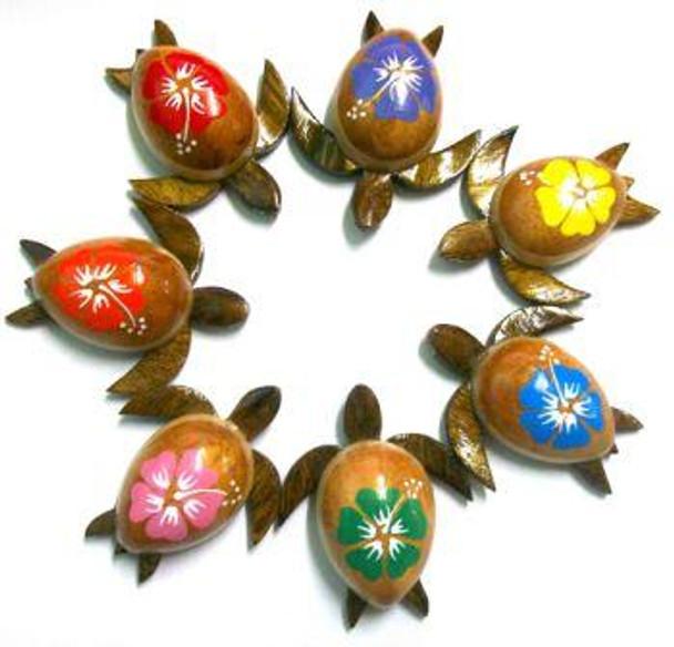 Hibiscus Sea Turtle Magnets