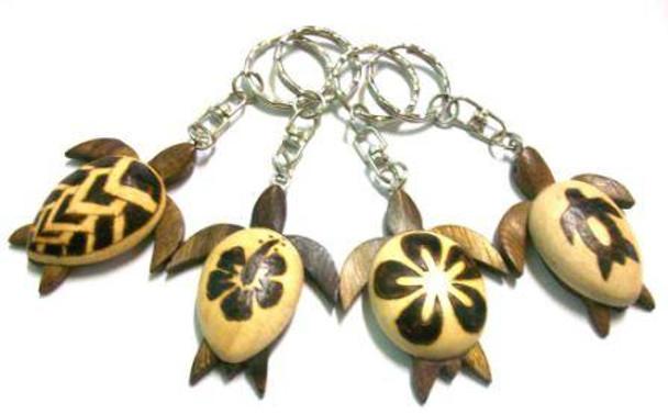 Burnt Sea Turtle Keychains