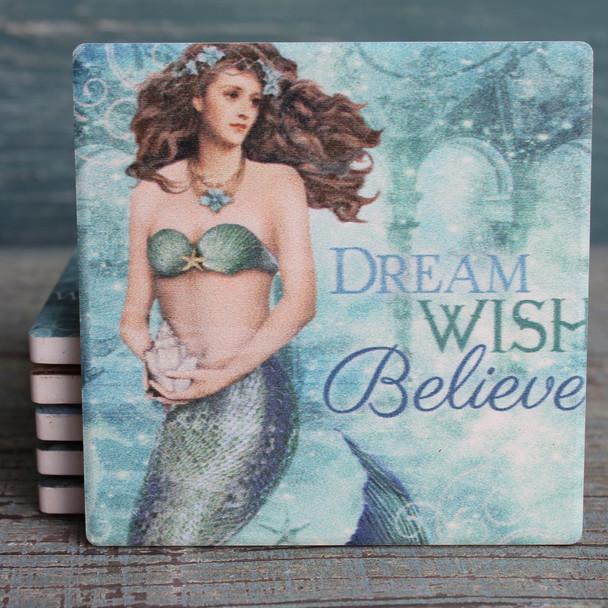 Dream Wish Believe - Mermaid Coasters