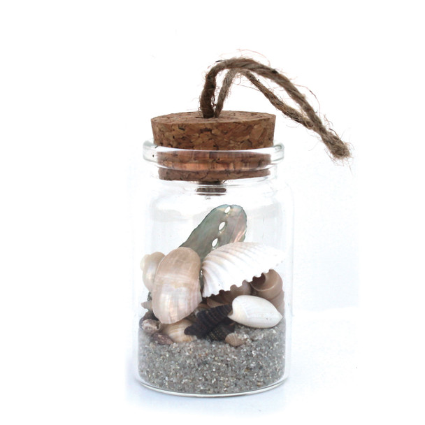 Natural Sand & Shells Bottle Ornament