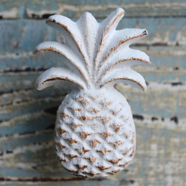 White Iron Pineapple Knob