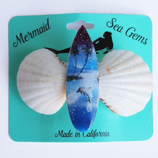 Color Surfboard Hair Clip - Mermaid Sea Gem