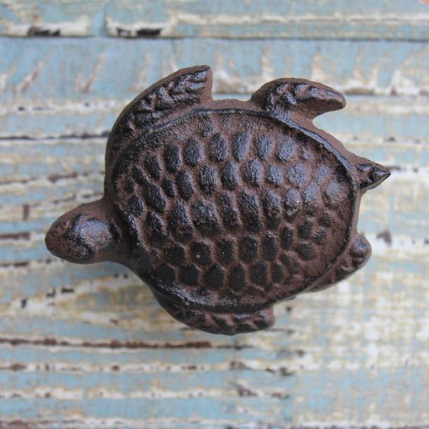 Rust Sea Turtle Knob