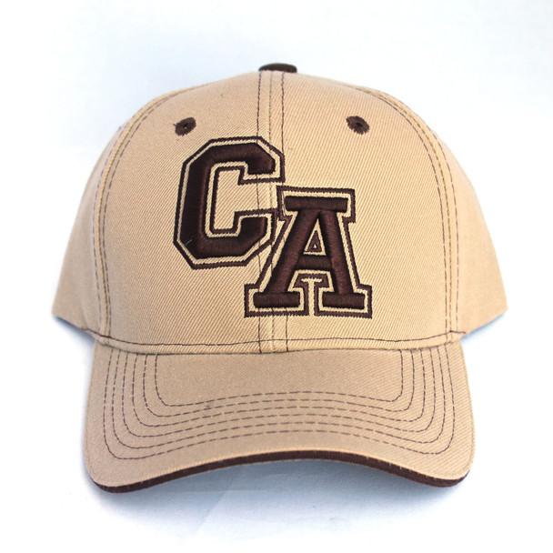 Khaki and Dark Brown CA Hat