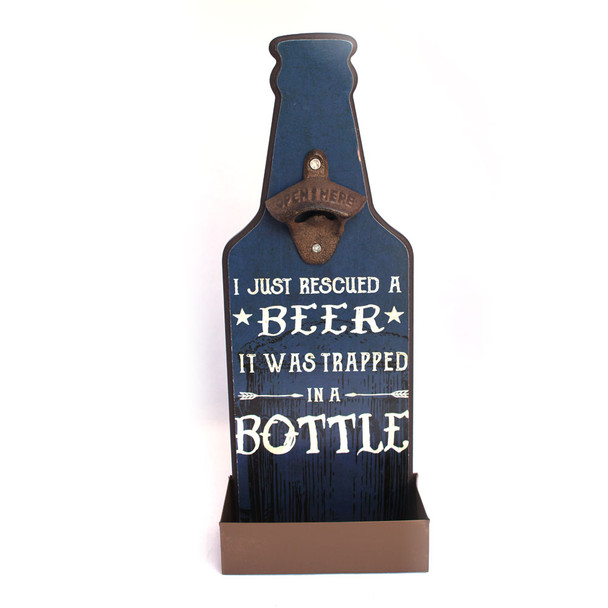 I just rescued a beer, it was trapped in a bottle.