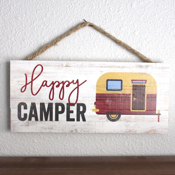 Happy Camper Rope Sign