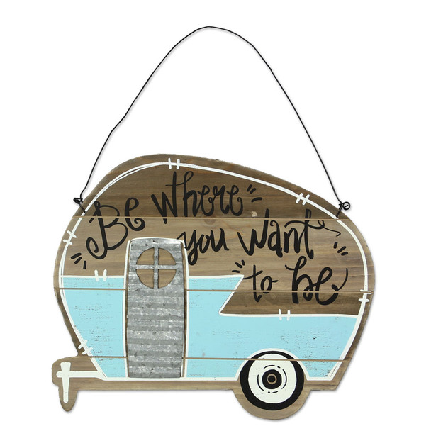Wood Camper Wall Hanger