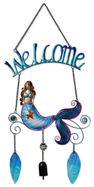 Metal Mermaid Welcome Sign