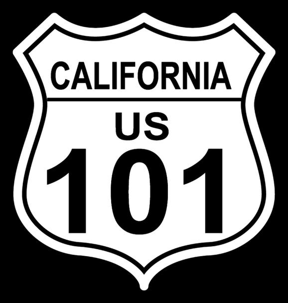California 101 shield sticker