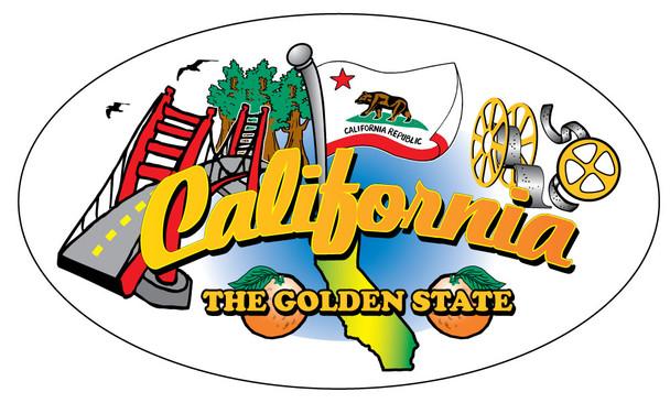 Golden State Montage Sticker