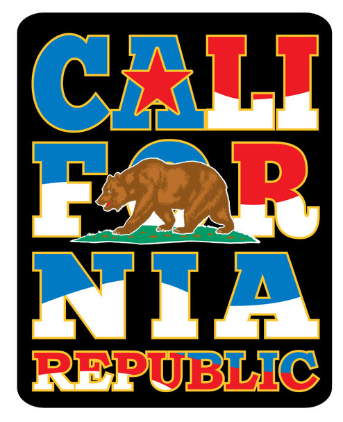 Red White Blue California Sticker