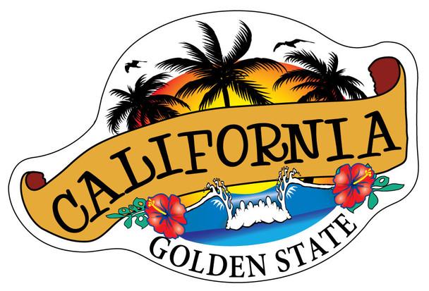 California Banner Sticker