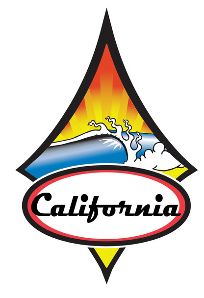 California Diamond Wave Sticker