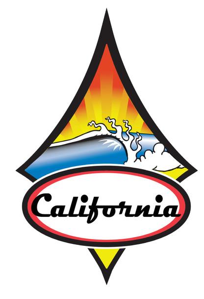 California Diamond Wave Sticker