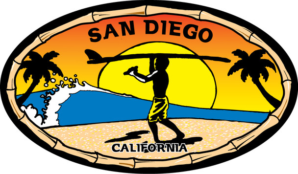 San Diego Endless Summer sticker