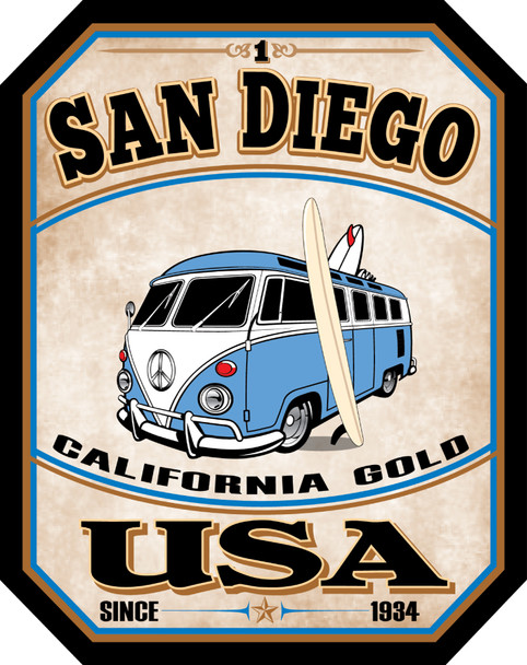 San Diego Bus Sticker