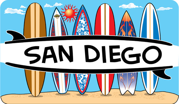 San Diego Surfboards sticker