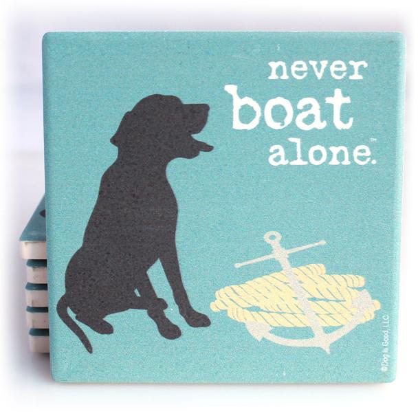 Never Boat Alone Coaster