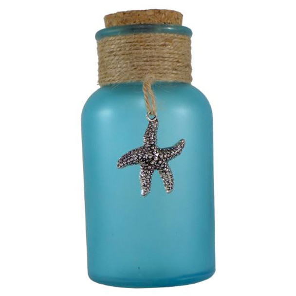 Frosted Blue Bottle