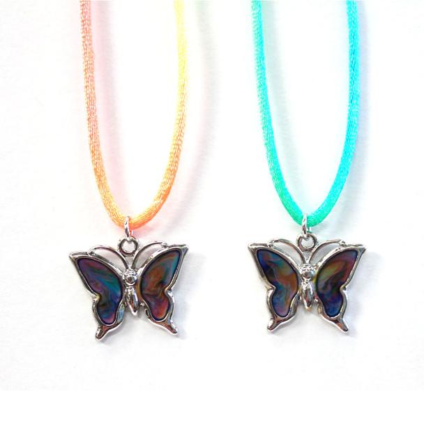 Butterfly Mood Necklace - 1 dozen