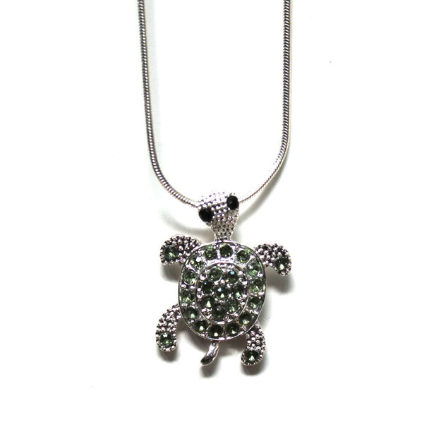 Sea Turtle Rhinestone Necklace