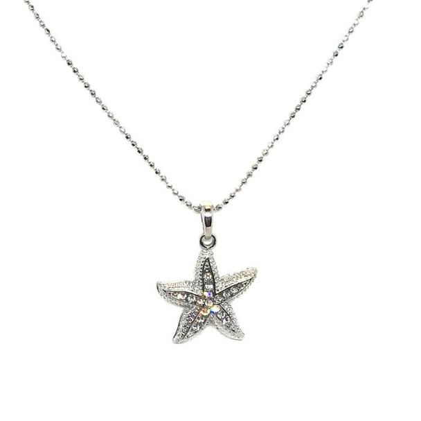 Starfish Rhinestones Necklace