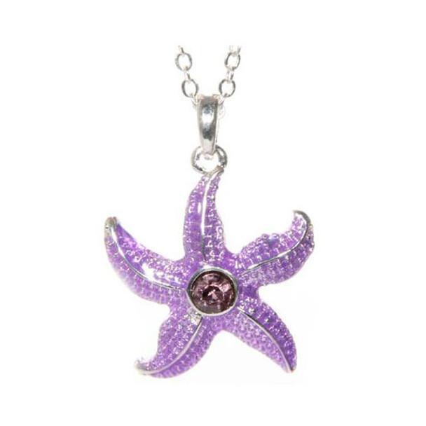 Rhinestone Starfish Necklace