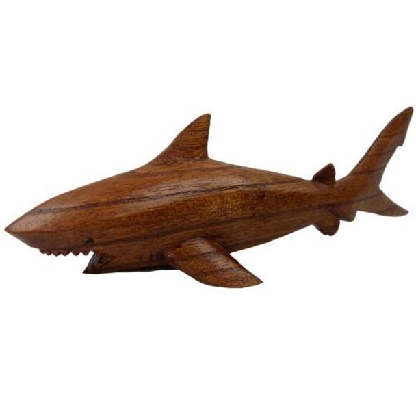 Small Wood Shark Figure