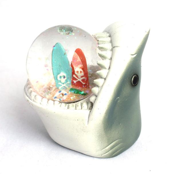 Shark Surfboard Snow Globe