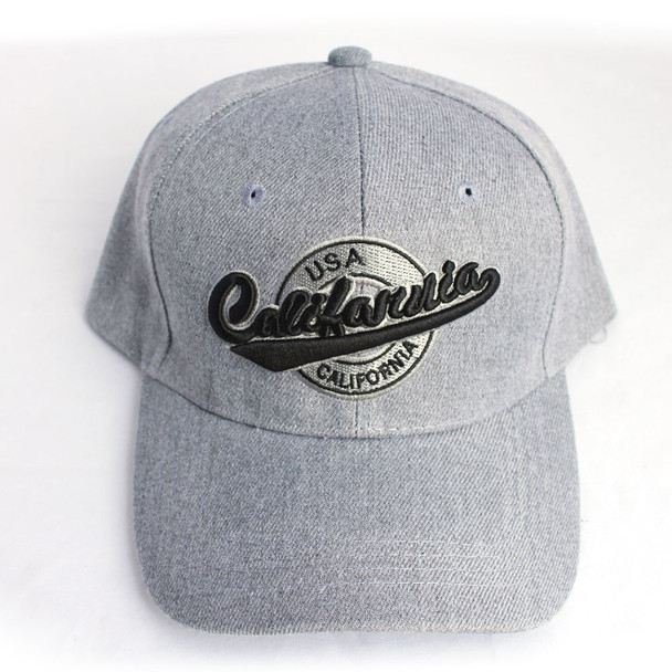 Gray with Black California USA Hat