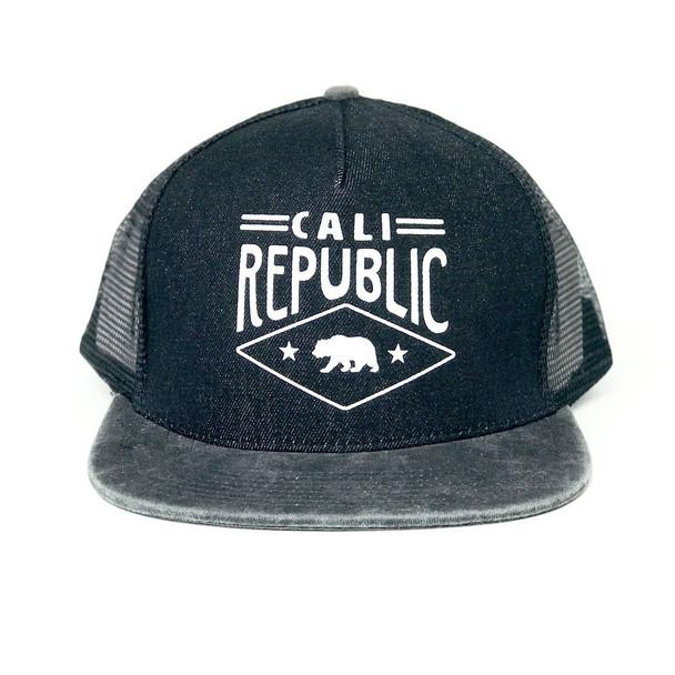 California Republic Soft Mesh Black Hat