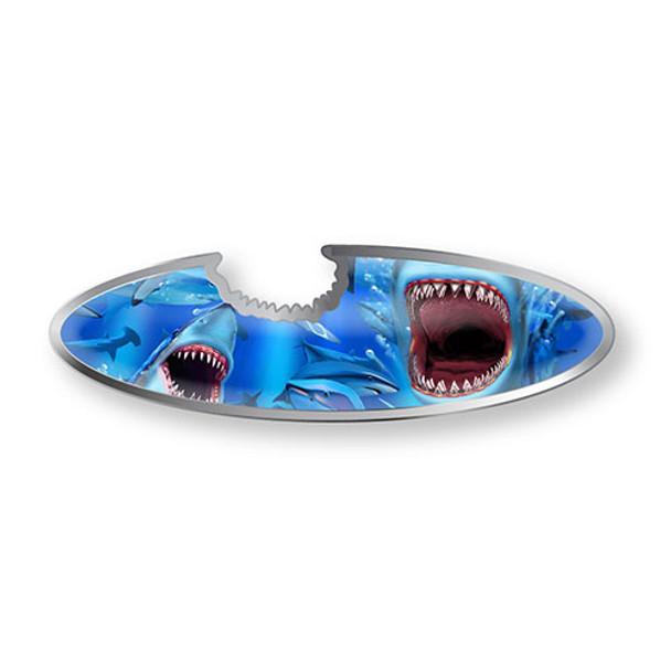 Shark Longboard Bottle Opener Magnet