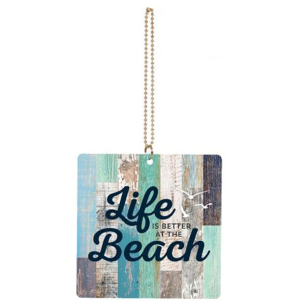 Life is Better at the Beach Car Charm