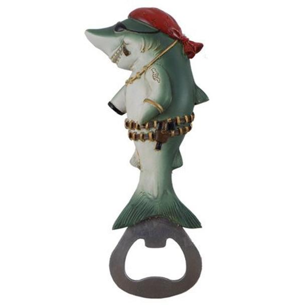 Pirate Shark Bottle Opener Magnet