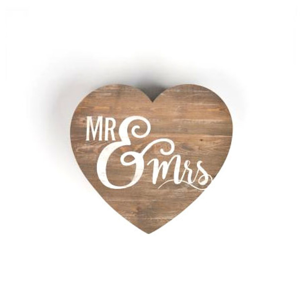 Mr & Mrs Shape Sign