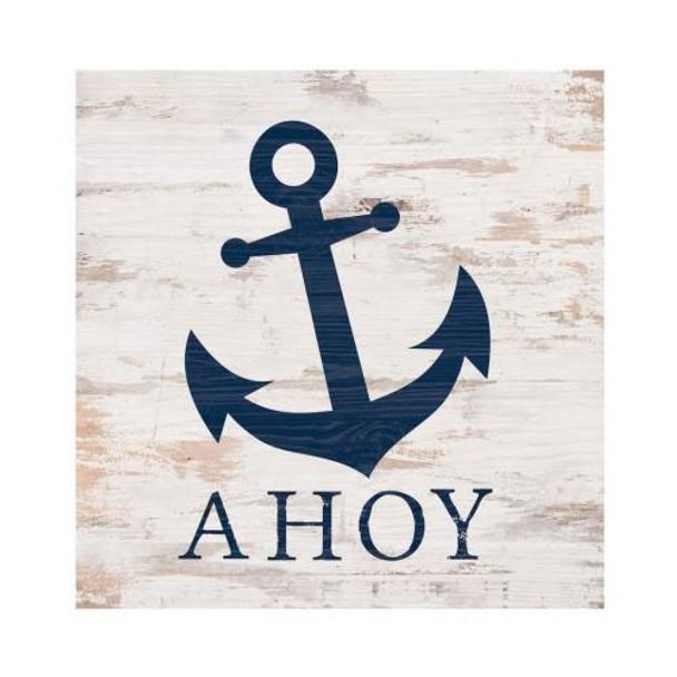 Ahoy Anchor Chunky Sign