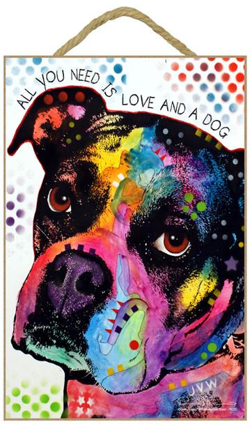 Boxer Dog Sign