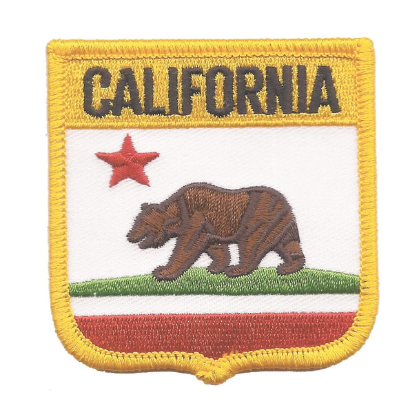 California Flag Shield Patch