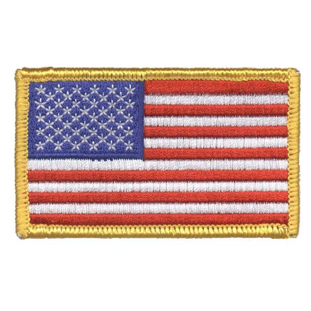 American Flag Patch - Gold Trim