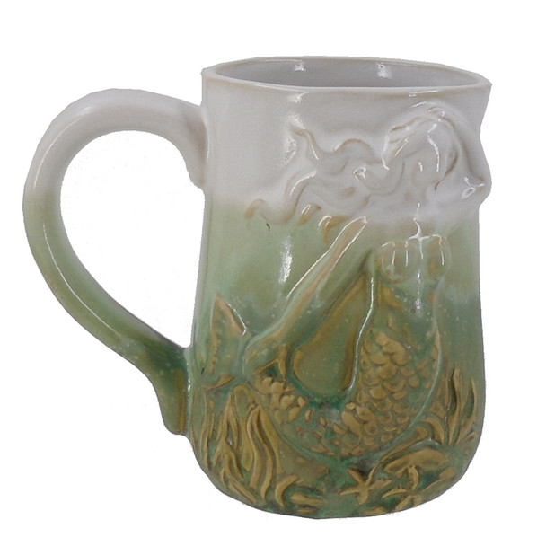 Green Mermaid Stoneware Mug