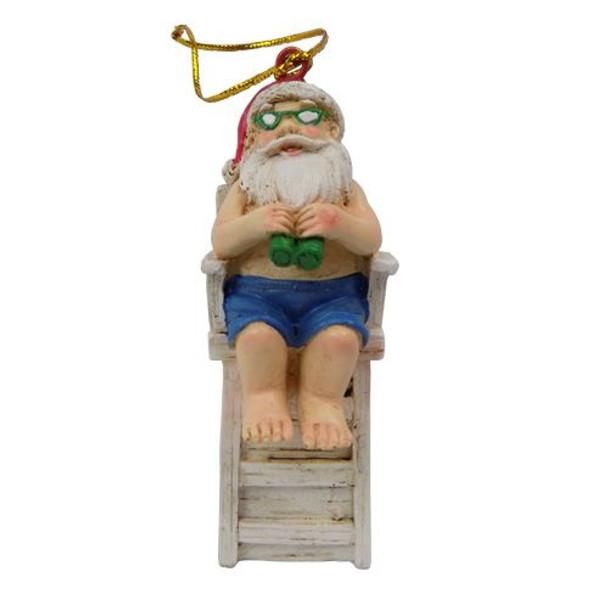 Santa Lifeguard Ornament