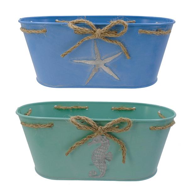 Metal Seahorse Buckets