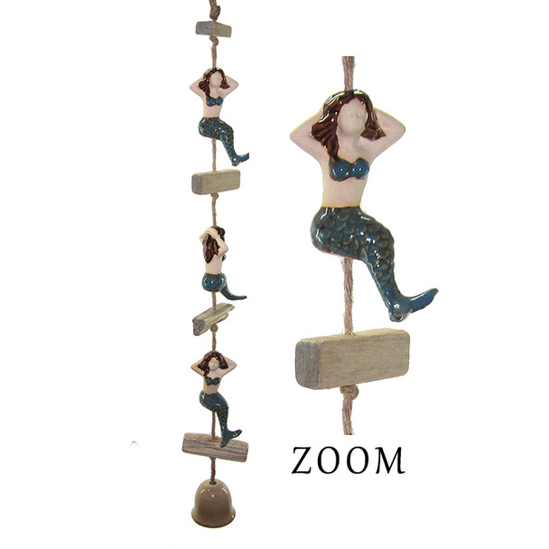 Ceramic Mermaid Dangler