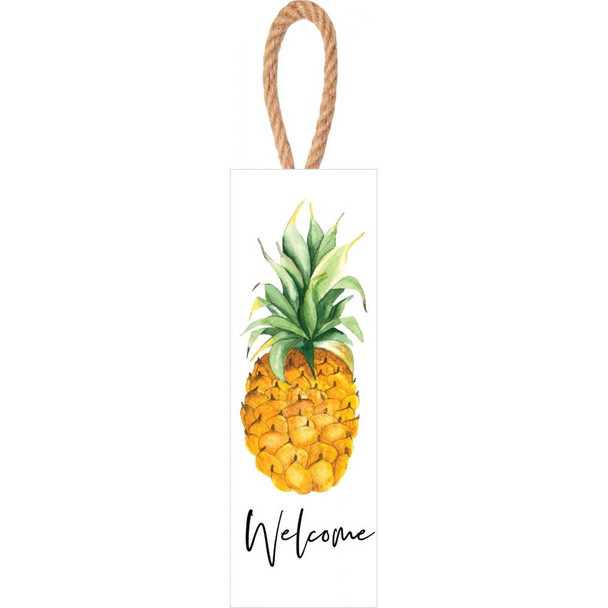 Welcome Pineapple  Vertical Sign