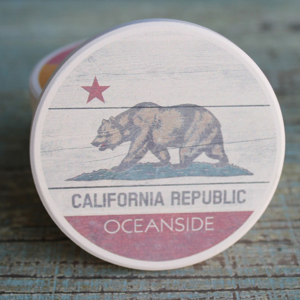 Oceanside Rustic Flag Car Coaster